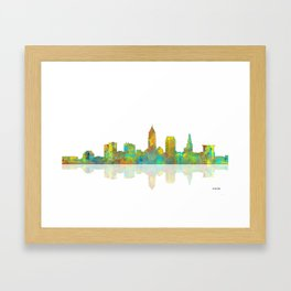 Cleveland, Ohio Skyline Framed Art Print