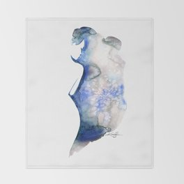 Watercolor Nude 6 by Kathy Morton Stanion Throw Blanket