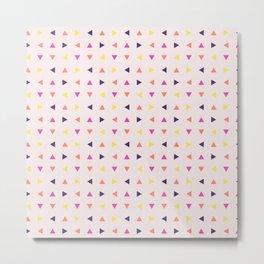 Blush pink lime triangles shapes geometrical pattern Metal Print