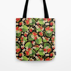 Strawberries Botanical Tote Bag