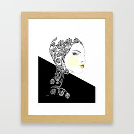 yellow kiss Framed Art Print