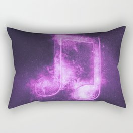 Beamed Eight music note symbol. Abstract night sky background Rectangular Pillow