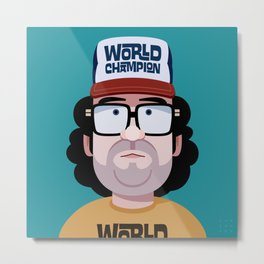 Comics of Comedy: Judah Friedlander Metal Print