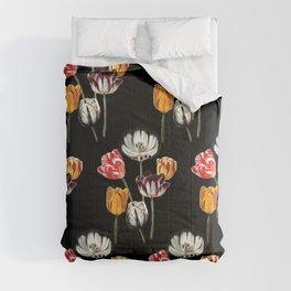 moody Tulips Comforters