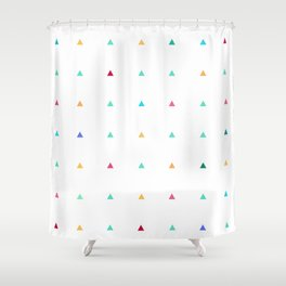 Small triangles Shower Curtain