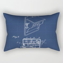 Telephone Toll Apparatus Vintage Patent Hand Drawing Rectangular Pillow
