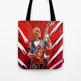 Fantasy art heavy metal skull guitarist Tote Bag