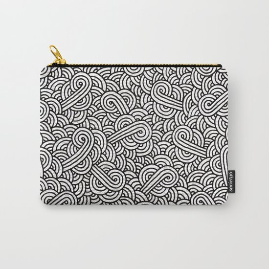 Black and white swirls doodles Carry-All Pouch