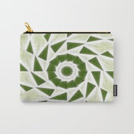 Green White Kaleidoscope Art 3 Carry-All Pouch