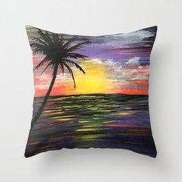 Sunset Sea Throw Pillow