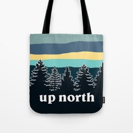 up north, teal & yellow Tote Bag