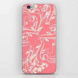 Pink swirls. Vector floral deisgn iPhone Skin