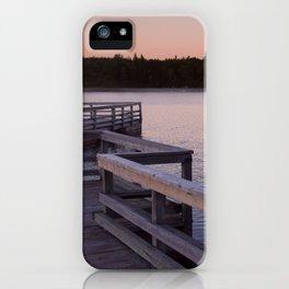 Sunset Fishing Dock iPhone Case