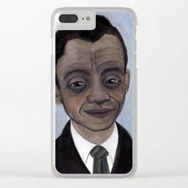 James Baldwin Literary Portrait Clear iPhone Case