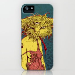 Third eye cat iPhone Case
