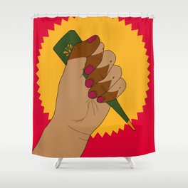 Henna Power Shower Curtain