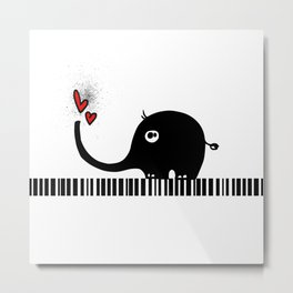 Little Elephant With Big Love... Metal Print