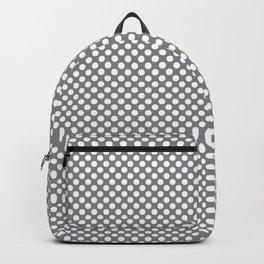 Sharkskin and White Polka Dots Backpack