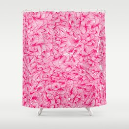 Pink Inklings Shower Curtain