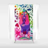 downton abbey Shower Curtains featuring Abbey by Ashley by Ashley