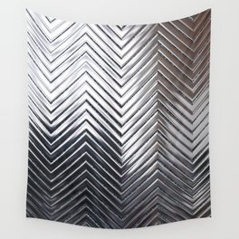 Silver Chevron Wall Tapestry