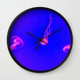 pastel jelly fish Wall Clock