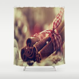 Cinnamon and almond scent for Christmas Shower Curtain