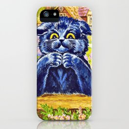 Black Cat In The Garden - Digital Remastered Edition iPhone Case