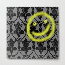 Sherlock smiling wall Metal Print