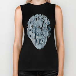 Don't blink weeping angel Biker Tank
