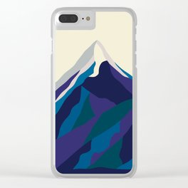 Mount Everest in Blue Clear iPhone Case