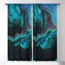 Poured Green Gemstone Galaxy Blackout Curtain