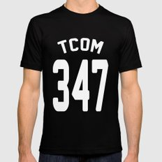 TCOM 347 AREA CODE JERSEY Mens Fitted Tee MEDIUM Black
