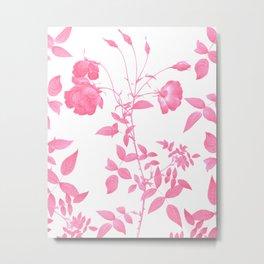 Pink Botanical Garden Metal Print