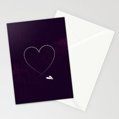 Heart Trail Stationery Cards