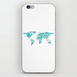Cool Blue World iPhone Skin