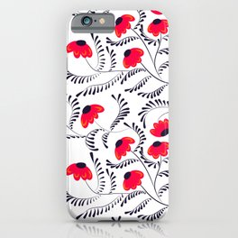 Beauty simple seamless floral pattern swirl iPhone Case