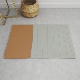 Horizon Lines x Terracotta Rust and Slate Rug