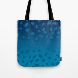 Ombre Blue Spots Hawaii Mermaid Tote Bag