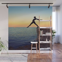 Over The Sea Wall Mural