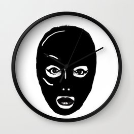 Black Hood Wall Clock