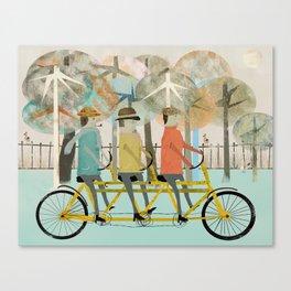 the tandem trio Canvas Print