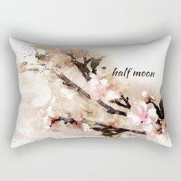 half moon: Haikushion Rectangular Pillow