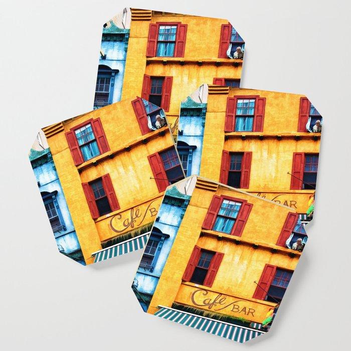 Blue Narrow House Coaster