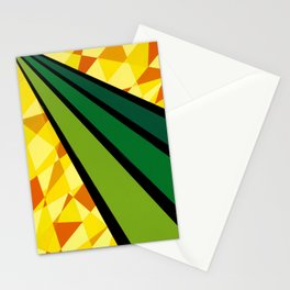 """""""Daffodil"""" *The Nature Series* Montana Gold Spray Paint on Birch Panel 16″ x 16″ x 2"""" Stationery Cards"""