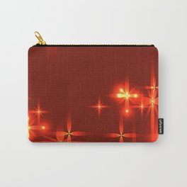 Bloody background with shining light metal stars. Carry-All Pouch