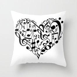 Music love Throw Pillow