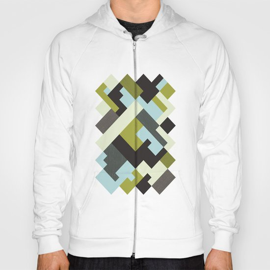 Rectangular geometric Hoody