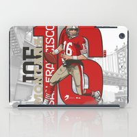 nfl iPad Cases featuring NFL Legends: Joe montana 49ers by Akyanyme