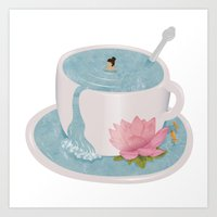 relax Art Prints featuring Relax by Laura O'Connor